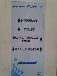 Toilet sign at Jogjakarta Plaza Hotel