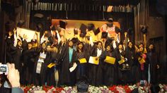 Students enjoying at the Convocation ceremony