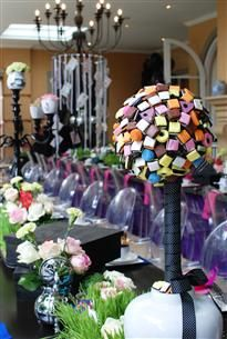Gallery | By Word Of Mouth:  Liquorice All Sorts used to make centre piece.