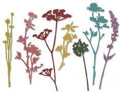 661190 Sizzix Thinlits Die Set 7PK - Wildflowers by Tim Holtz
