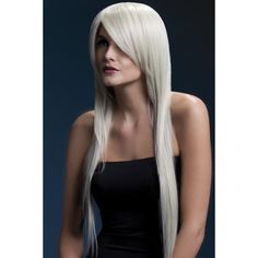 The Fever Amber wig in blonde is a long straight wig featuring a feathered fringe and measures long and is manufacture with a fully adjustable, high quality wig cap and can withstand heat styling appliance temperatures in excess of 120 degree, come Balayage Brunette To Blonde, Blonde Wig, Balayage Hair, Wig Styles, Short Hair Styles, Treatment For Bleached Hair, Short Bleached Hair, Color Rubio, Real Hair Wigs