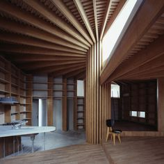 Tree House by Mount Fuji Architects Studio | Called Tree House, the interior is broken down into four spaces with the function corresponding to the ceiling height and quality of light.