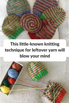 Ginny Jovanovich returns to Knitting for Charity with yet another outstanding use for leftover yarn: a little-known knitting technique called helix knitting Do any of you remember the fabulous cluster stitch Knitting Help, Knitting For Charity, Loom Knitting, Knitting Stitches, Knitting Needles, Knitting Patterns Free, Knit Patterns, Hand Knitting, Knitting Tutorials