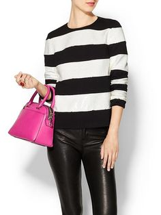Nothing like a black and white striped sweater to channel your inner Parisian