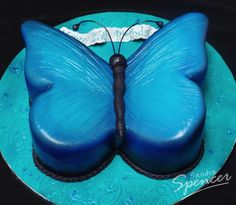 Blue Butterfly on Cake Central