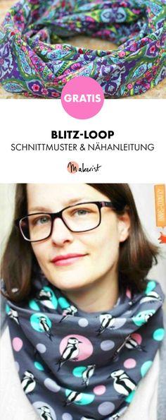 Gratis Anleitung: Loop nähen - Schnittmuster und Nähanleitung via Makerist.de