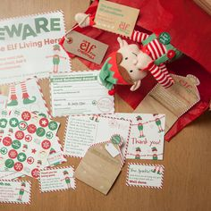 Boy Christmas Elf Toy And Magical Reward Kit by Big Little Toys, the perfect gift for Explore more unique gifts in our curated marketplace. Magical Christmas, Christmas In July, Christmas Elf, Santa Letter Template, Elf Toy, Elf Letters, Elf Magic, An Elf, All Gifts