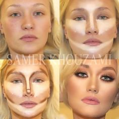 Contour Face Makeup tutorials, Before and after contouring tutorials http://www.justtrendygirls.com/before-and-after-contouring-tutorials/