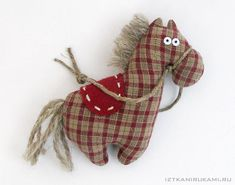 IzTkaniRukami (•_•) зверики Felt Crafts, Fabric Crafts, Sewing Crafts, Sewing Projects, Handmade Stuffed Animals, Fabric Animals, Horse Crafts, Fabric Toys, Sewing Patterns For Kids