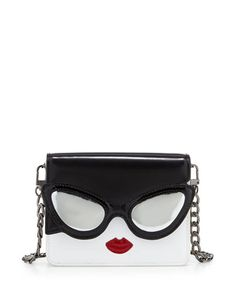 Stacy Face Mini Clee Shoulder Bag by Alice + Olivia