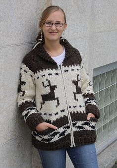 Ravelry: Shawnigan Jacket pattern by Ram Wools Yarn Co-op ... do love me a cowichan.