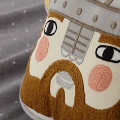 Viking Head Throw Pillow  | The Land of Nod