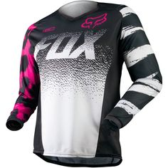 All New Fox Racing 2015 Womens 180 Jersey Black/Pink. More Specific Womens Fox Racing Racewear Gear available at Motocrossgiant! Fox Racing Clothing, Motocross Clothing, Dirt Bike Gear, Cafe Racer Build, Cool Bike Accessories, New Fox, Bike Seat, Riding Gear, Dirtbikes