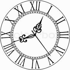 Malbilder Uhr Ausmalbilder Tattoos For Kids, All Tattoos, Clock Tattoo Design, Tattoo Designs, Pocket Watch Drawing, Clock Face Printable, Robin Tattoo, Ship Map, Make Tattoo