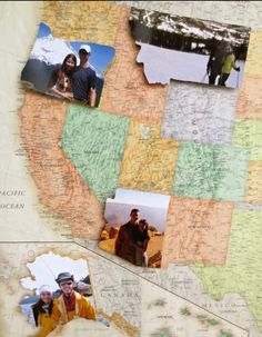 cool idea for a travel collage!