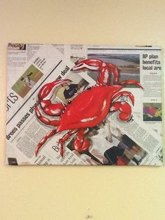 My crab painting   # Pinterest++ for iPad #