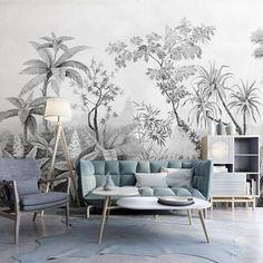 Tropical rainforest wallpaper, Southeast Asian huge trees and wall mural plants,. - Tropical rainforest wallpaper, Southeast Asian huge trees and wall mural plants, living room or seb - Custom Wallpaper, Wall Wallpaper, Bedroom Wallpaper, Accent Wallpaper, Wallpaper Wallpapers, Cleaning Walls, Smooth Walls, Traditional Wallpaper, Plant Wall