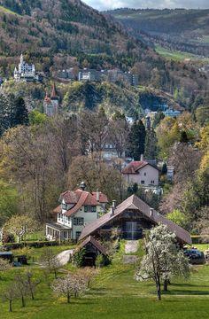 Dietschiberg to Hotel Gütsch, Lucerne, Switzerland
