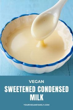 Vegan-sweetened condensed milk is really creamy, thick, rich, sweet, and slightly coconutty. Making Plant-based sweetened condensed milk is one of the easiest recipes in the world. Cream of coconut is a great substitute for sweetened condensed milk. It's dairy-free and can be substituted cup for cup. If you have not tried yet, enjoy it now. #veganliving #healthylifestyle #Creamofcoconut #SweetenedCondensedMilk Easiest Recipe In The World, Coconut Ladoo Recipe, Condensed Milk Recipes, Delicious Vegan Recipes, Vegan Lifestyle, Healthy Desserts, Plant Based, Dairy Free, Cream