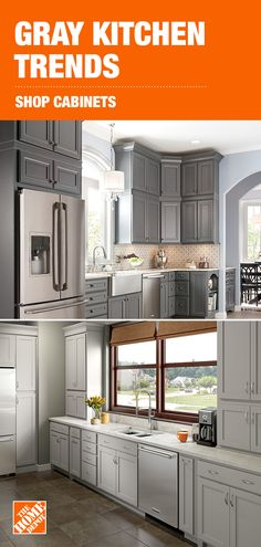 Create A Soothing Kitchen Oasis With Gray Cabinet Ideas From The Home Depot.  Match This