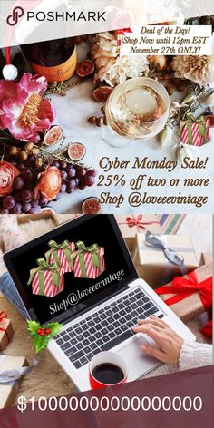 "🎊🌸CYBER Monday Sale...☕️💻🌸🎊 🎊🌸CYBER Monday Sale...☕️💻🌸🎊 Shop all your favorite wants, Dresses, Sweaters, Blouses, Shoes, Men's Jeans, Purses and Jewelry!! Hurry in while they're still here! One day, ONLY! (November 27, 2017 until 12pm EST) Shop @loveeevintage☕️🍃💕  ""Your favorites are only a click, away!""🎊💖 loveeevintage Other"