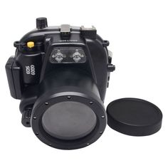 455.00$  Buy here - http://alic1y.worldwells.pw/go.php?t=32367330569 - Mcoplus 40m/130ft Underwater Waterproof Housing Case for Canon EOS 600D/Rebel T3i 55mm Lens
