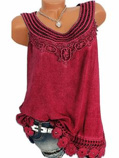 Women Blouse Sexy Sleeveless Lace Floral Tops 2019 Summer Shirts Plus Size Tunic Top Tee Casual Solid Ladies Blouse large Blusas I www. Plus Size Blouses, Plus Size Tops, Lace Tops, Floral Tops, Shirt Blouses, T Shirt, Lace Vest, Summer Shirts, Crop Tops
