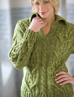 Knit Cardigan Pattern | Women's knitted sweater patterns-Knitting Gallery