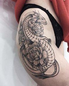 Badass Dragon Thigh Tattoo dragon tattoo for women 45 Badass Thigh Tattoo Ideas for Women Badass Tattoos, Body Art Tattoos, Tribal Tattoos, Tattoos For Guys, Cool Tattoos, Thigh Tattoos For Women, Awesome Tattoos, Dragon Thigh Tattoo, Dragon Tattoo For Women