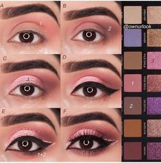 If you would like transform your eyes and also improve your appearance, finding the very best eye makeup tips can help. You need to be sure to put on make-up that makes you look even more beautiful than you already are. Makeup Eye Looks, Eye Makeup Steps, Cute Makeup, Skin Makeup, Eyeshadow Makeup, Drugstore Makeup, Eyeshadows, Glitter Makeup, Makeup Inspo