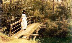 On a Bridge in Abramtsevo.  Ilia Efimovich Repin