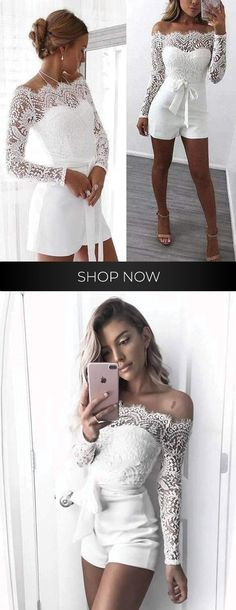 Swans Style is the top online fashion store for women. Shop sexy club dresses, jeans, shoes, bodysuits, skirts and more. Bridal Jumpsuit, White Wedding Dresses, Sexy Heels, Wedding Attire, Girls Night, Spring Outfits, Marie, Style Me, Reception