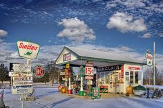 Restored service station serves as a reminder of days gone by on Historic Route 66 in Missouri.