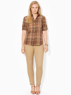 This timeless plaid workshirt is crafted from soft cotton and finished with patch pockets at the chest.  #Fashion  #RalphLauren