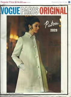 Vogue Paris Original Sewing Patterns | Vogue Dress Coat Paris Original Pattern UNCUT Vintage Vogue Sewing ...