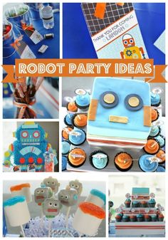 Robot Birthday Party Ideas - These are so cute!