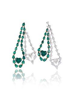 Chopard. emerald & diamond earrings...♡