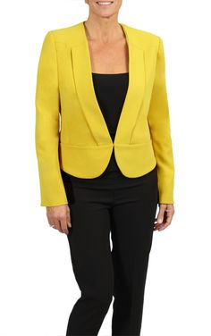 Jacket with inserted lapels- available in mustard and black at a store near you, and online (in Canada only). Lapels, Mustard, Autumn Fashion, Canada, Blazer, Store, Fall, Jackets, Collection