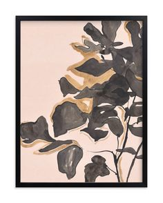 """Young Fig"" - Art Print by Laura Condouris in beautiful frame options and a variety of sizes."
