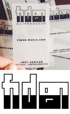 A special logo and a business card design for a special dj  #dj #businesscard #businesscarddesign #design #print #fiden #designinspiration #tinyrebels #tinyrebellions
