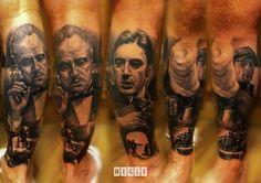 Awesome Godfather theme tattoo by Bartosz Panas. #tattoo #tattoos #ink
