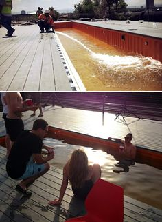 7 DIY Swimming Pool Ideas and Designs: From Big Builds to Weekend Projects - #2 The shipping container swimming pool