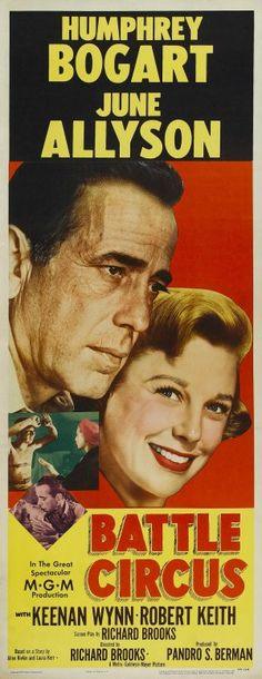 Battle Circus (1953) Movie Poster https://www.youtube.com/user/PopcornCinemaShow