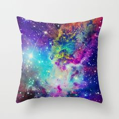 Fox Fur Nebula Throw Pillow Why does this make me think of Dana? Does Dana like this? What is the theme for her room? These are all valuable questions...