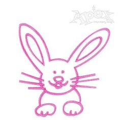 "Bunny Easter Embroidery Design. Bunny rabbit is a one color cute and simple sew out nice bold satin stitch. Easy design for all sewing machines Easter Bunny Rabbit Size: 2.44"" x 2.50"""