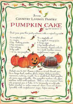 Pumpkin Cake, Susan Branch