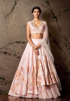 Beautiful Lehenga and Blouse in babay pink, Indian Fashion via @topupyourtrip