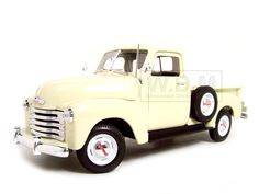 1953 Chevrolet 3100 Pickup Diecast Model Cream 1/18 Die Cast Car By Welly