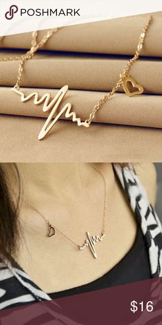 2016 New Fashion Jewelry Imitation Titanium Gold 2016 New Fashion Jewelry Imitation Titanium steel 18K Gold Plated  Heart Necklace Clavicle Choker Pendant Necklace Accessories