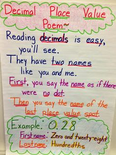 """place value chart for rounding 